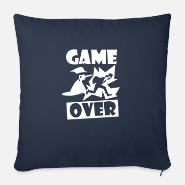 Game Over Bachelor party wedding newlyweds gift - Sofa pillow with filling 45cm x 45cm