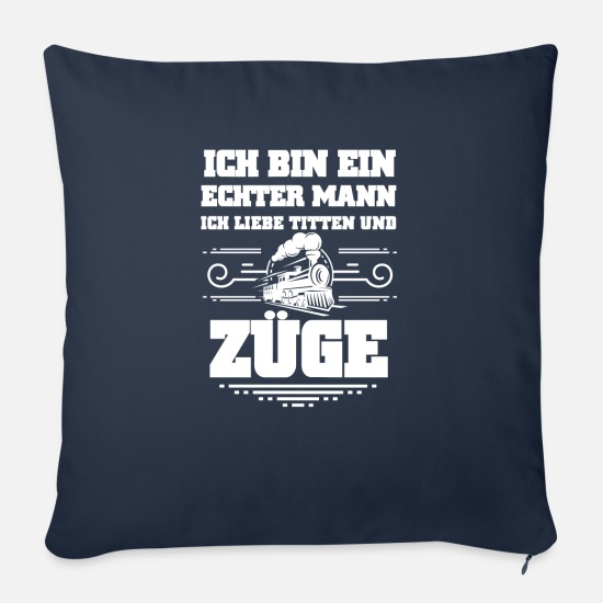Train Driver Pillow Cases - Railway Trains Shirt · Locomotive · Train · Gift - Pillowcase 17,3'' x 17,3'' (45 x 45 cm) navy
