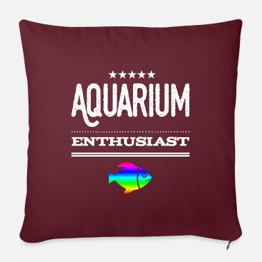 Aquarium Aquarium aquarium - Sofa pillow with filling 45cm x 45cm