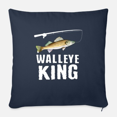Trout Funny Walleye Fishing Freshwater Fish Lake Gift - Sofa pillow with filling 45cm x 45cm