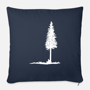 Guitar player under tree (white silhouette) - Sofa pillow with filling 45cm x 45cm