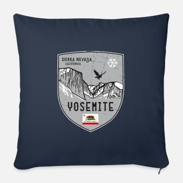 Helped Dome Yosemite USA coat of arms - Sofa pillow with filling 45cm x 45cm