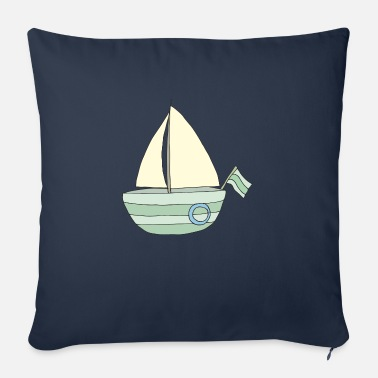 sailboat turquoise - Sofa pillow with filling 45cm x 45cm