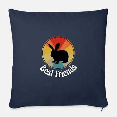 Best Friends - I love rabbits - Sofa pillow with filling 45cm x 45cm