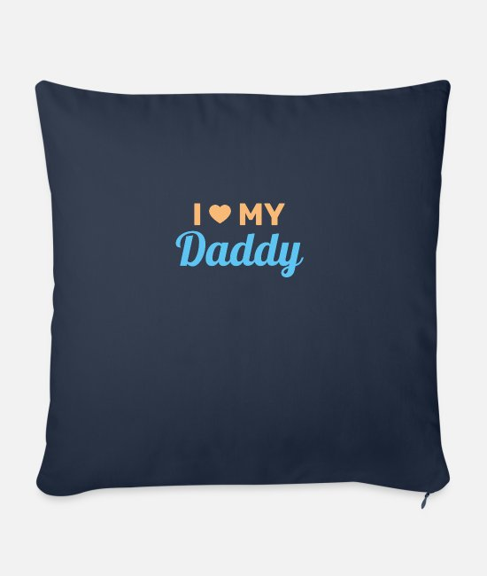 Father's Day Pillow Cases - Father's Day Gifts 2020 - Sofa pillow with filling 45cm x 45cm navy