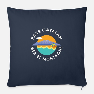 Catala Catalan country sea and mountain - Sofa pillow with filling 45cm x 45cm
