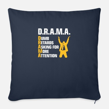 Adhd Symbols Stupid People With Attention Deficit - Sofa pillow with filling 45cm x 45cm