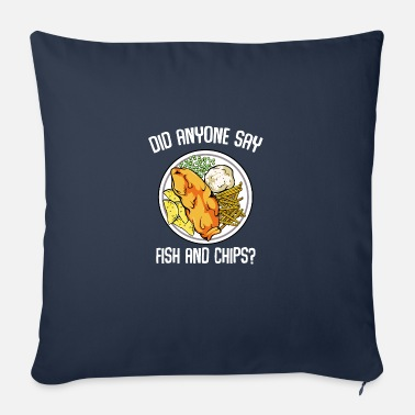 What Did Anyone Say Fish & Chips dish fish fillet - Sofa pillow with filling 45cm x 45cm