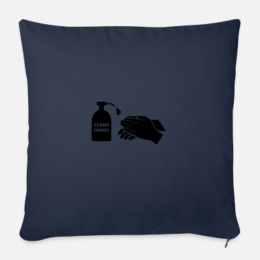 Clean What It Is clean hands - Sofa pillow with filling 45cm x 45cm
