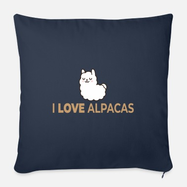 I Love Alpacas I love alpaca - Sofa pillow with filling 45cm x 45cm