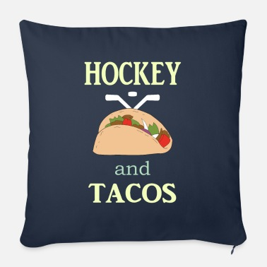 Coach Hockey Gift to Player Team Mom Coach Funny Tacos - Sofa pillow with filling 45cm x 45cm
