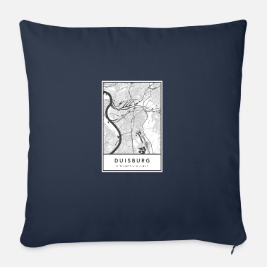 Duisburg Duisburg NRW map city map city map map - Sofa pillow with filling 45cm x 45cm
