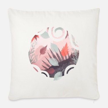 Nature Falling leaves - Sofa pillow with filling 45cm x 45cm