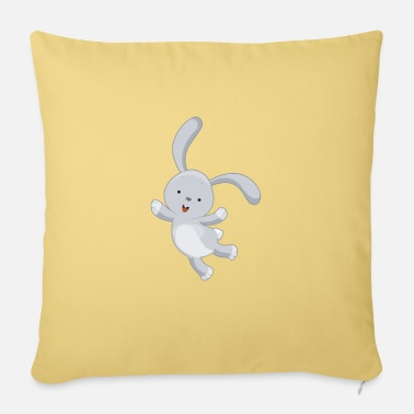 Carrot Cute rabbit is jumping for joy - Sofa pillow with filling 45cm x 45cm