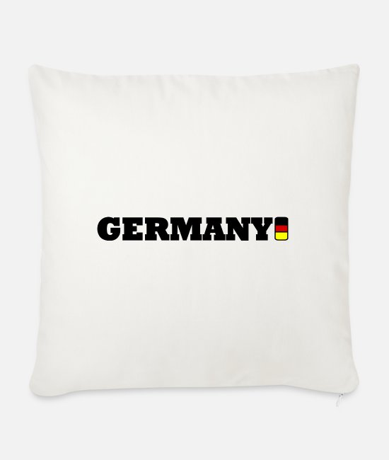 I Love Pillow Cases - Germany - Germany - Sofa pillow with filling 45cm x 45cm natural white