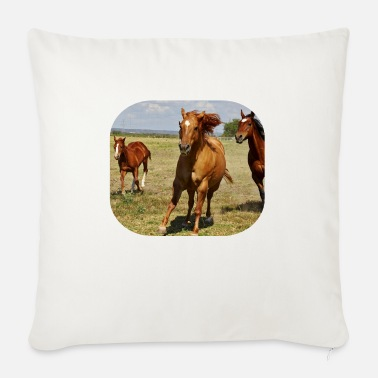 Horse Horses Horse Horsehead Horse Racing Wild Horses - Sofa pillow with filling 45cm x 45cm