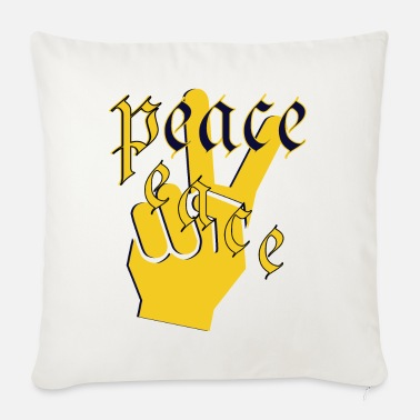 Peace peace peace - Sofa pillow with filling 45cm x 45cm