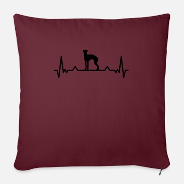 England Whippet heartbeat British greyhound gift - Sofa pillow with filling 45cm x 45cm
