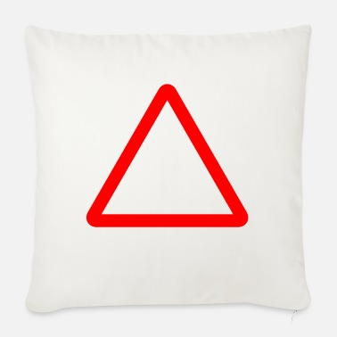 Kyltti Triangle Warning Sign - Sofa pillow with filling 45cm x 45cm