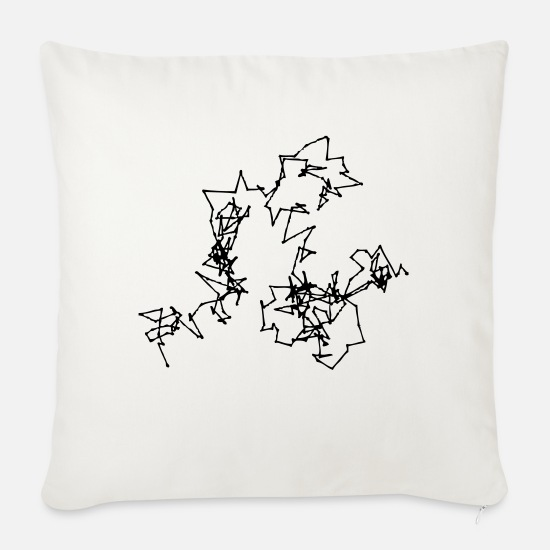 Biology Pillow Cases - Brownian Motion - Sofa pillow with filling 45cm x 45cm natural white
