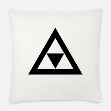Triangle Triangle in the triangle - Sofa pillow with filling 45cm x 45cm