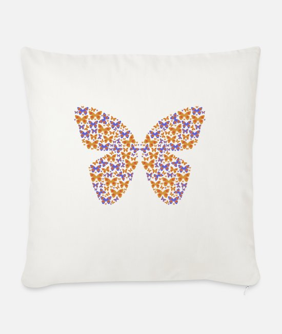 Father's Day Pillow Cases - Butterfly - Sofa pillow with filling 45cm x 45cm natural white