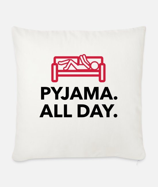 Bed Pillow Cases - Throughout the day in your pajamas! - Sofa pillow with filling 45cm x 45cm natural white