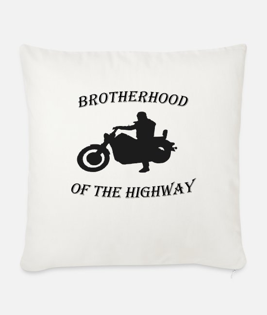 Wheel Pillow Cases - brotherhood of the highway - Sofa pillow with filling 45cm x 45cm natural white