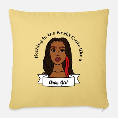 Sultry Aries Girl Design No.6 - Sofa pillow with filling 45cm x 45cm