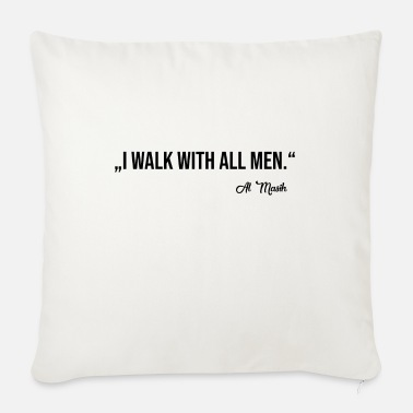 WALK WITH ALL MEN - Sofa pillow with filling 45cm x 45cm