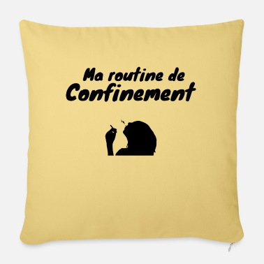 Coronavirus Containment humor gift - Sofa pillow with filling 45cm x 45cm