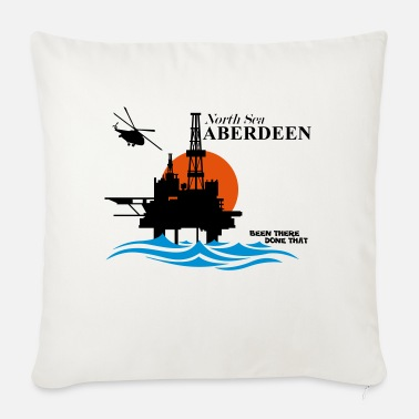 Oil Rig Platform North Sea Aberdeen Oil Rig Platform - Sofa pillow with filling 45cm x 45cm