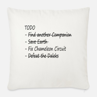 Todo List The Doctor's TODO List - Sofa pillow with filling 45cm x 45cm
