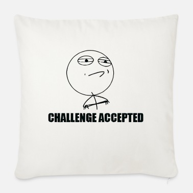 Face T-Shirt Challenge Accepted Meme Rageface - Sofa pillow with filling 45cm x 45cm