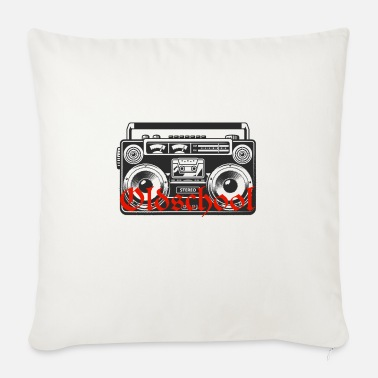 Boom Box 90s baby years birthday gift old school - Sofa pillow with filling 45cm x 45cm