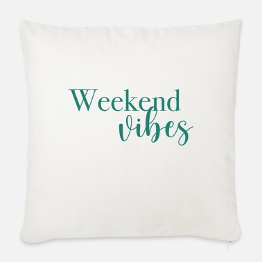 Weekend Weekend vibes, lineart, minimalistic, saying - Sofa pillow with filling 45cm x 45cm