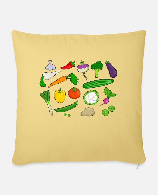 Broccoli Pillow Cases - vegetables - Sofa pillow with filling 45cm x 45cm washed yellow