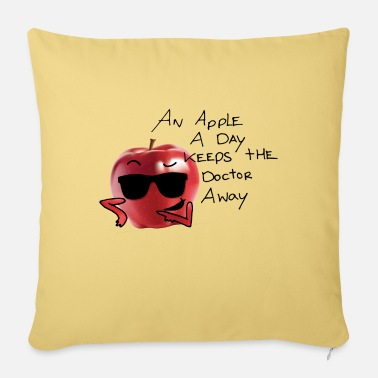 Sultry an apple a day keeps the doctor away - Sofa pillow with filling 45cm x 45cm
