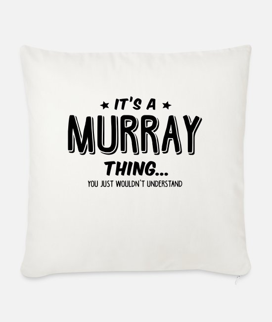 Murray Pillow Cases - murray its a name thing - Sofa pillow with filling 45cm x 45cm natural white