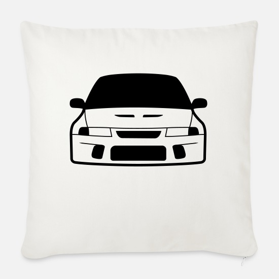 Jdm Pillow Cases - JDM Evo6 | T-shirts JDM - Sofa pillow with filling 45cm x 45cm natural white