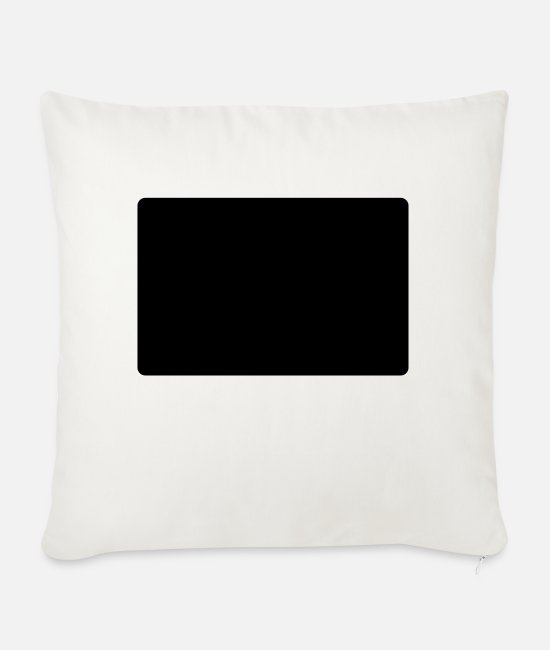 Greeting Pillow Cases - hello my name is murray - Sofa pillow with filling 45cm x 45cm natural white