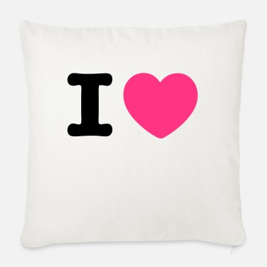 I Heart i heart heart - Sofa pillow with filling 45cm x 45cm