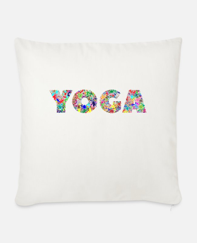Bless You Pillow Cases - yoga - Sofa pillow with filling 45cm x 45cm natural white
