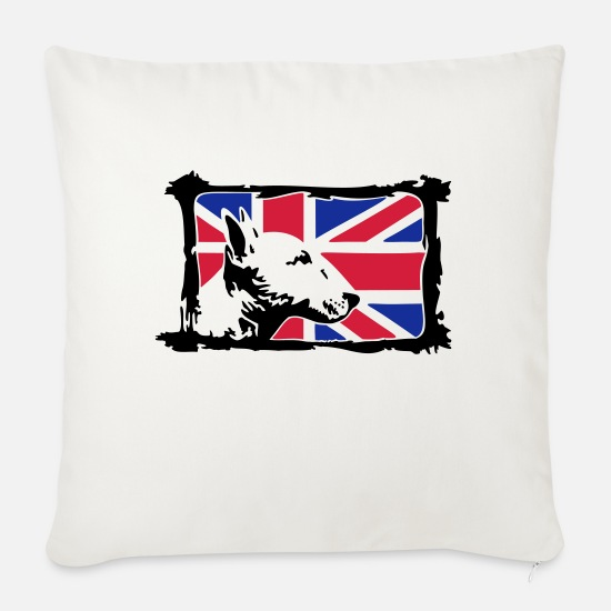 Bull Terrier Pillow Cases - Bullterrier - Sofa pillow with filling 45cm x 45cm natural white