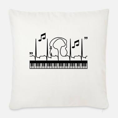 Rhythmus im Rhythmus mit dem Klavier / piano beat (1c) - Sofa pillow with filling 45cm x 45cm