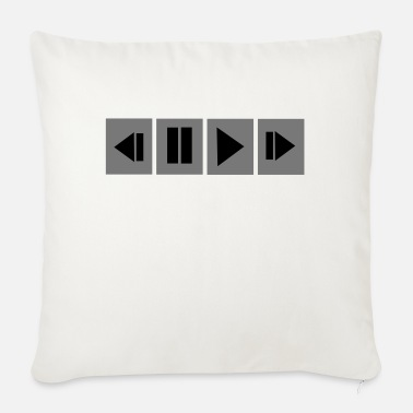 Pause Play - Sofa pillow with filling 45cm x 45cm