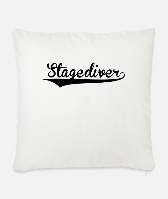 Ball Pillow Cases - stagediver retro college baseball style - Sofa pillow with filling 45cm x 45cm natural white