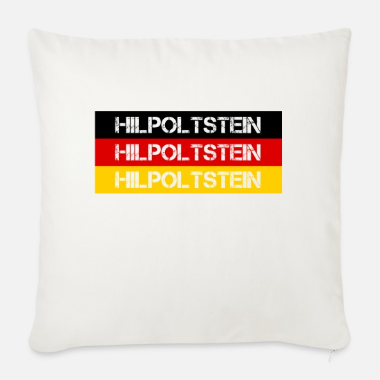 Federal Republic Of Germany Pillow Cases - STADT HILPOLTSTEIN, GERMANY - Sofa pillow with filling 45cm x 45cm natural white
