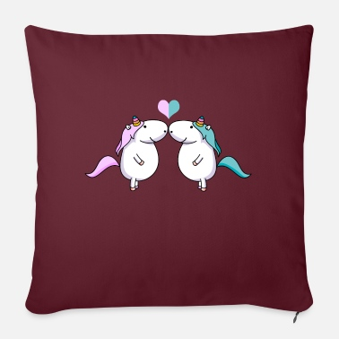 Valentines Day Unicorn love - Sofa pillow with filling 45cm x 45cm