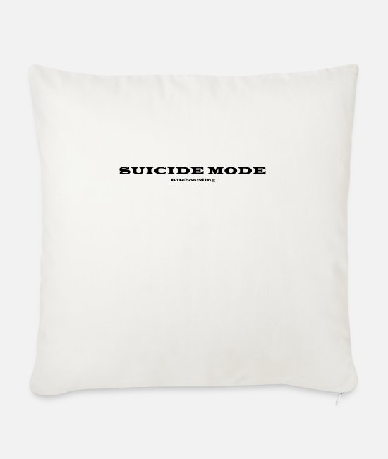 Surfer Pillow Cases - Kiteboarding suicide fashion - Sofa pillow with filling 45cm x 45cm natural white